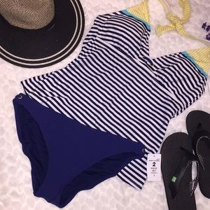 Sperry Top Sider Striped Halter & Panty Swimsuit